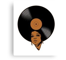 Afrovinyl (Brown) Canvas Print