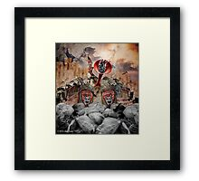 Beckoning White Noise Framed Print