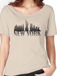 New York Skyline Women's Relaxed Fit T-Shirt