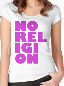 NORELIGION PINK Women's Fitted Scoop T-Shirt