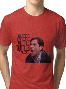 Michael Scott - Where Are the Turtles? Tri-blend T-Shirt