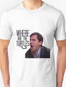 Michael Scott - Where Are the Turtles? Unisex T-Shirt