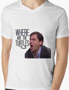 Michael Scott - Where Are the Turtles? Mens V-Neck T-Shirt