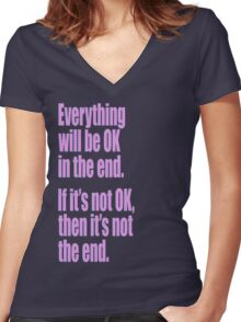 EVERYTHING PINK Women's Fitted V-Neck T-Shirt