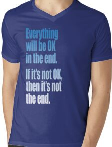 EVERYTHING  BLUE Mens V-Neck T-Shirt