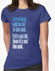 EVERYTHING  BLUE Womens Fitted T-Shirt