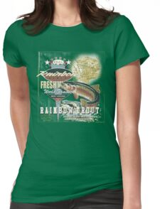 RAINBOW TROUT Womens Fitted T-Shirt