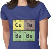 Periodic Table - Cute Babe Womens Fitted T-Shirt