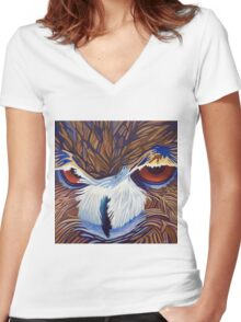 Healing Solitude Women's Fitted V-Neck T-Shirt