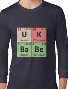 Periodic Table - UK Babe Long Sleeve T-Shirt