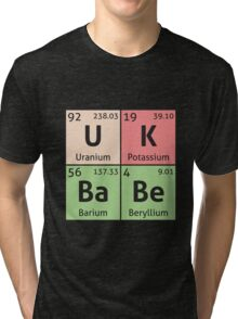 Periodic Table - UK Babe Tri-blend T-Shirt