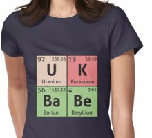 Periodic Table - UK Babe Womens Fitted T-Shirt