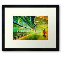 Moving Walkway at Chicago O'Hare, Terminal 1 Framed Print