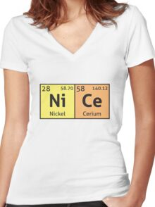 Periodic Table - Nice Women's Fitted V-Neck T-Shirt
