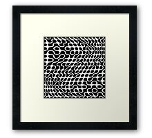 Black and White Op Art Framed Print