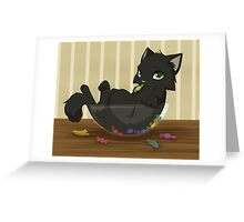 Kitty candy thief Greeting Card