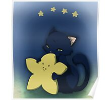 Little star kitten hug Poster