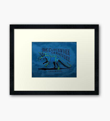 Clockwork Carnivore (Blue EUPARKERIA-TYPE) Framed Print