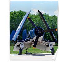 1945 Goodyear FG-1D Corsair Poster