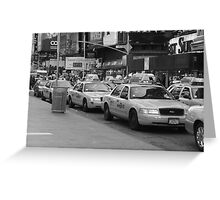 NYC Cabs Greeting Card