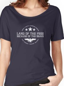 Land of the Free - White Women's Relaxed Fit T-Shirt