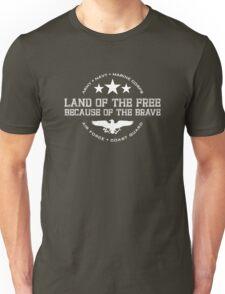 Land of the Free - White Unisex T-Shirt