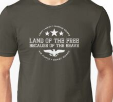 Land of the Free - White Unisex T-Shirt