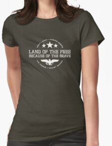 Land of the Free - White Womens Fitted T-Shirt