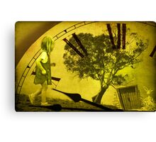 Alice came face to face with the rabbit Canvas Print