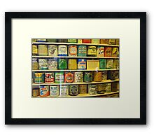 Oyster cans Framed Print