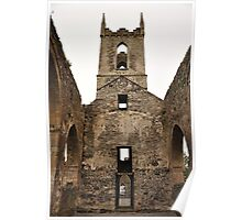 Baltinglass abbey inside view. Poster