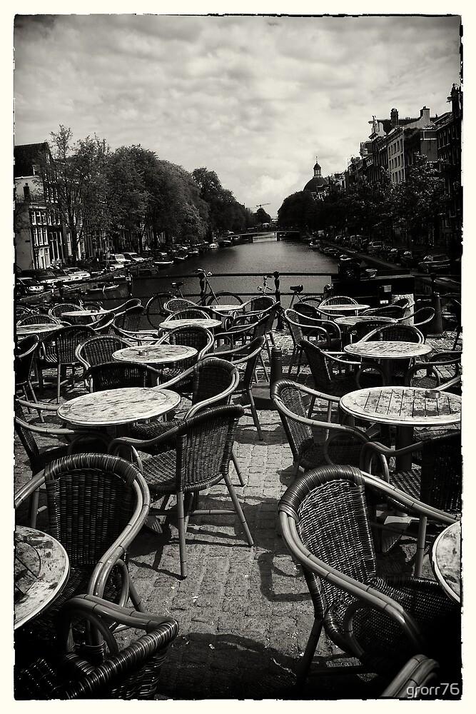 Amsterdam chairs on bridge by grorr76