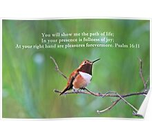 In Your Presence Psalm 16:11 Poster