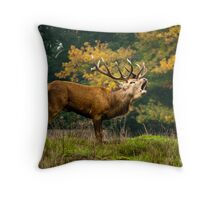 Bellowing Stag Throw Pillow