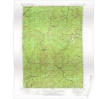 USGS Topo Map Oregon Dutchman Butte 282433 1946 62500 Poster