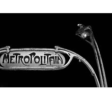 paris metro 2 Photographic Print