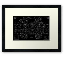 The Stars: A Constellation Map Framed Print