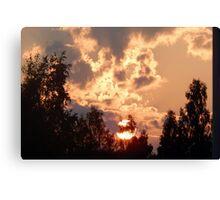 Backyard Sunset Canvas Print