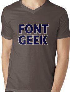 Font Geek Mens V-Neck T-Shirt