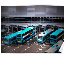 Blue Buses Poster