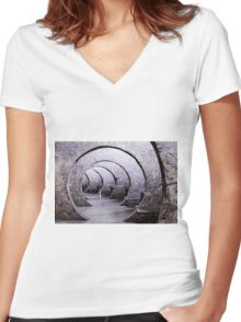 circle of stone Women's Fitted V-Neck T-Shirt