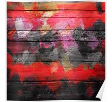 Abstract Color Paint Brush Wood Look Poster