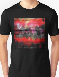 Abstract Color Paint Brush Wood Look Unisex T-Shirt