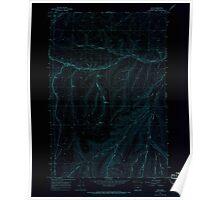 USGS Topo Map Oregon Nye 280945 1967 24000 Inverted Poster