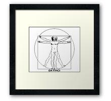 Da Vinci Vitruvian Man Framed Print