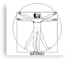 Da Vinci Vitruvian Man Canvas Print