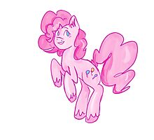 Positively the Pinkest Party Pony Photographic Print