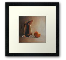 Copper and Orange Framed Print