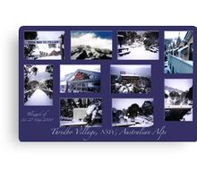 Threbdo Blizzard montage Canvas Print