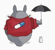 Totoro meets Akira by glitchgee
